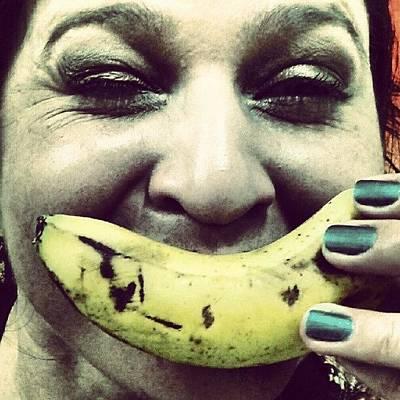 Banana Photograph - I Like Banana. #colors  #banana by Elis Regina Martins