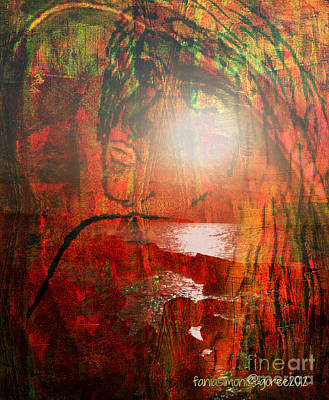 Faniart Africa America Mixed Media - I Look To You  - Unmixed Sight Unmixed Faith by Fania Simon