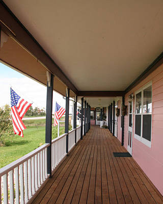 Photograph - I Love America Porch At The Hannah Marie by Amelia Painter
