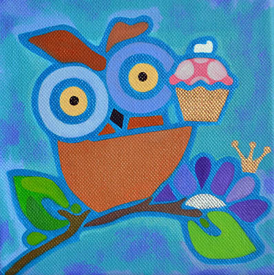Painting - I Love Cupcakes by Jenny Valdez