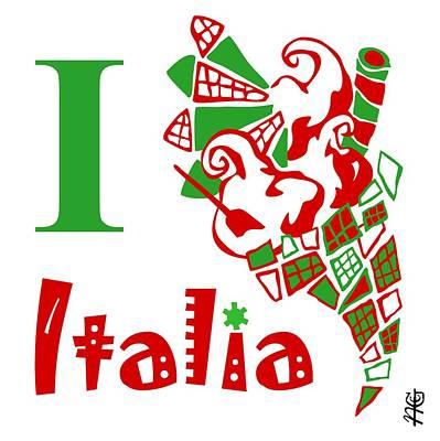 Ice-t Digital Art - I Love Ice Cream Venice Italy - Art Design Gelato Venezia Italia by Arte Venezia