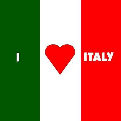 I Love Italy Art Print by Florene Welebny
