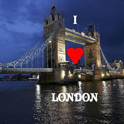 I Love London Original by Florene Welebny