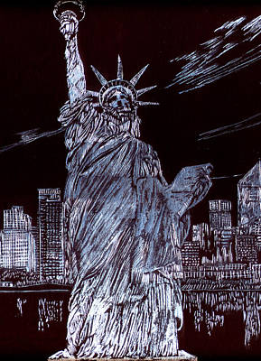 Drawing - I Love Nyc by Saad Hasnain