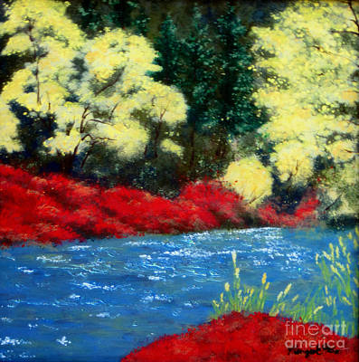 Reverse Glass Painting - I Love The Lake  by Susan Plenzick