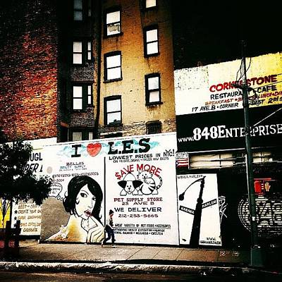 Cool Photograph - I Love The Lower East Side - New York City by Vivienne Gucwa