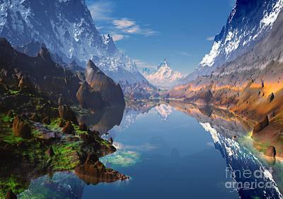 Rocky Mountains Digital Art - I Love The Rocky Mountains  by Heinz G Mielke