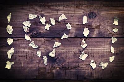 Shred Photograph - I Love You by Joana Kruse
