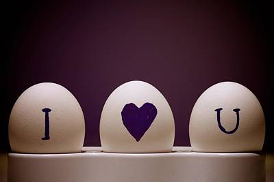 I Love You On Eggs Art Print by Reynard Laksmono