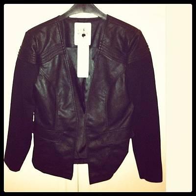 Leather Photograph - I Loveeeee My New Leather Jacket by Nikki Jansen