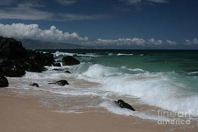 Digital Art - i miha kai i ka aina Hookipa Beach Maui North Shore Hawaii by Sharon Mau