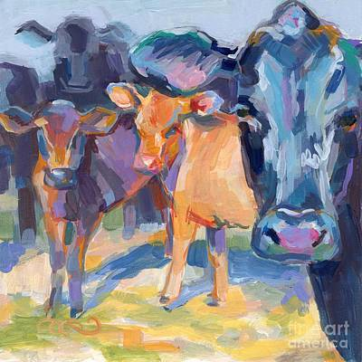 Jersey Cow Painting - I Never Saw A Purple Cow by Kimberly Santini