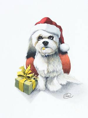 I Rove Christmas Art Print by Albert Casson