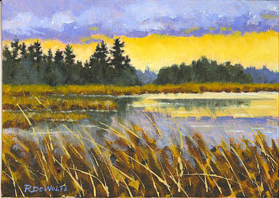 Waterscape Painting - I Saw The Light by Richard De Wolfe