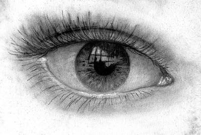 Soulful Eyes Drawing - I See You by Just Joszie