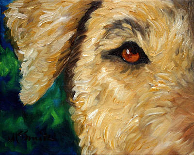 Airedale Terrier Painting - I See You by Mary Sparrow