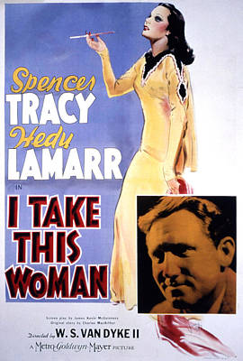 I Take This Woman, Hedy Lamarr, Spencer Art Print by Everett