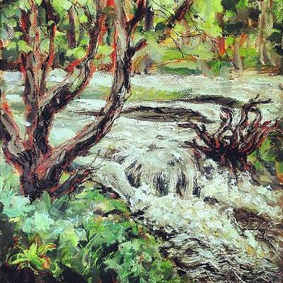 Impressionism Wall Art - Photograph - I Think I Finished That #river #hafren by Alexandra Cook