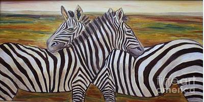 Art Print featuring the painting I Think Its This Way by Julie Brugh Riffey