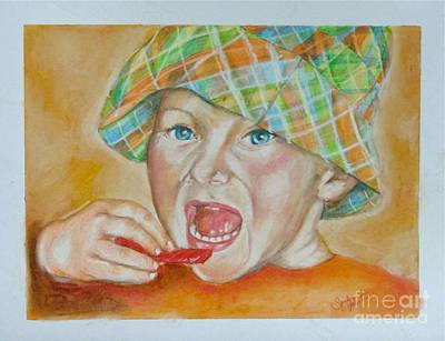 Licorice Drawing - I Want Candy by Sandra Valentini