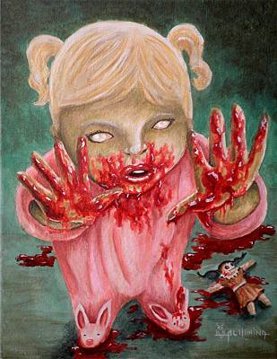 Creepy Painting - I Want To Play With You by Al  Molina