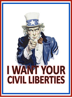 I Want Your Civil Liberties Art Print by Matt Greganti