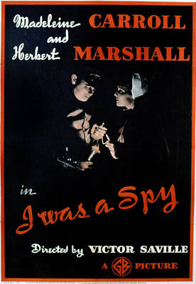 Accomplice Photograph - I Was A Spy, Herbert Marshall by Everett