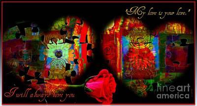 Faniart Africa America Mixed Media - I Will Always Love You by Fania Simon