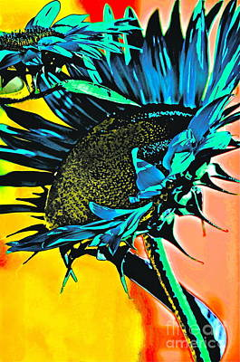 Wild Sunflowers Digital Art - I Will Be Bigger Than You by Gwyn Newcombe