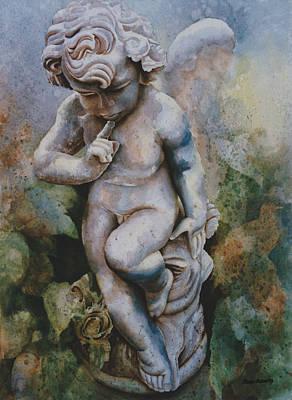 Garden Statuary Painting - I Wonder by Eve Riser Roberts