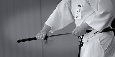 Photograph - Iaido _ 2 _ Monochrome by Tim Nichols