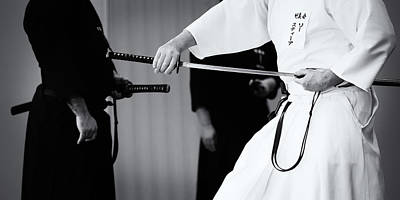 Photograph - Iaido _ Monochrome by Tim Nichols