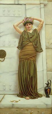 Pottery Painting - Ianthe by John William Godward