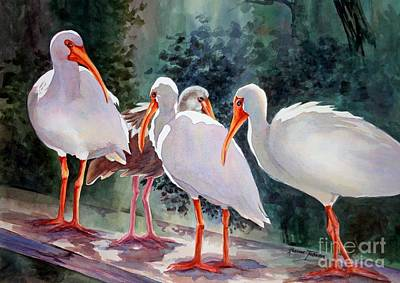Painting - Ibis - Youngster Among Us. by Roxanne Tobaison