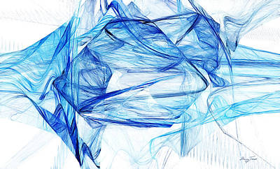 Digital Art - Ice 002 by Barry Jones