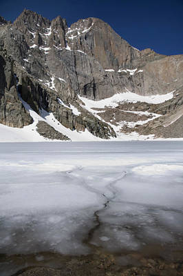 Chasm Lake Photograph - Ice And Snow Still On Chasm Lake by Scott S. Warren