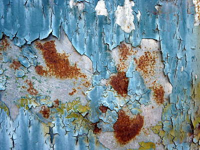 Rust Photograph - Ice Blue Crackle by Carla Parris