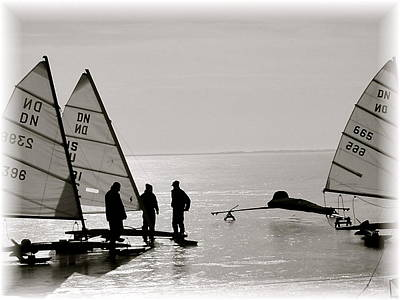 Photograph - Ice Boats by Susan Elise Shiebler