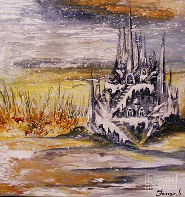 Art Print featuring the painting Ice Castle by Karen  Ferrand Carroll