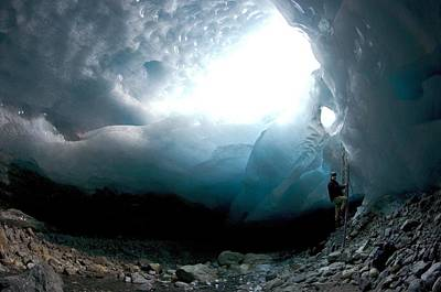 Ice Cave, Switzerland Print by Dr Juerg Alean