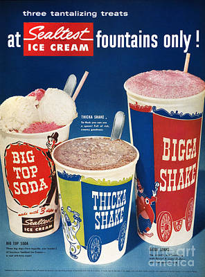 Photograph - Ice Cream Ad, 1955 by Granger