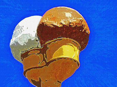 Ice Cream Cone - Double Scoop Art Print by Steve Ohlsen