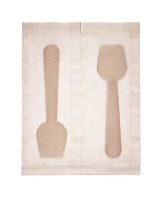 Ice Cream Spoons In Packets Art Print by Peter Dazeley