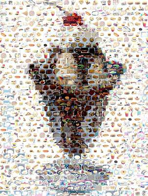 Ice Cream Sundae Mosaic Original by Paul Van Scott