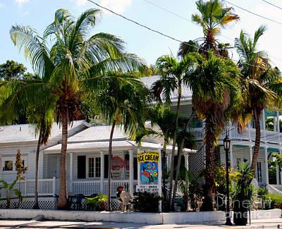 Ice Creme Shop On Duval Key West Art Print