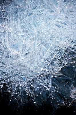 Ice Crystal Photograph - Ice Crystal Patterns by Skye Hohmann