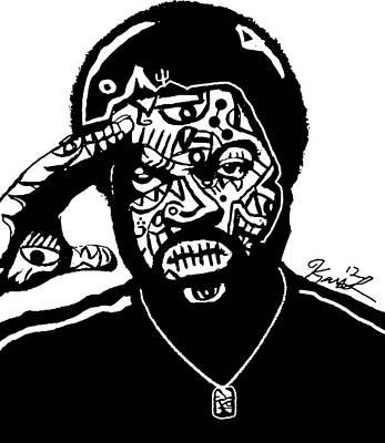 Popartist Digital Art - Ice Cube By Kamoni-khem by Kamoni Khem