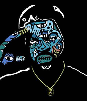 Blackart Digital Art - Ice Cube by Kamoni Khem