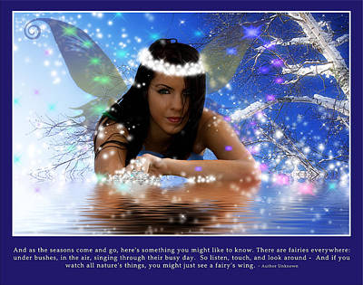 Photograph - Ice Fairy by Trudy Wilkerson