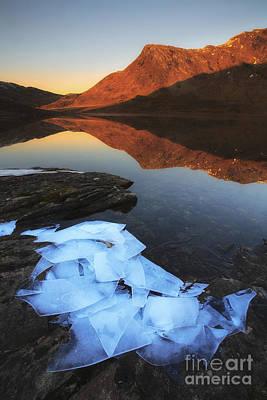 Ice Flakes In The Shadows Art Print by Arild Heitmann